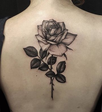 Significado De Los Tatuajes De Rosas Con Espinas Tatuajes De Rosas Tatuajes Femeninos Para La Espalda Tatuajes Espalda Mujer