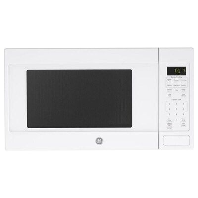 Ge 1 6 Cu Ft 1150 Countertop Microwave White At Lowes Com In