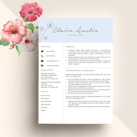 105 best Executive Resume Template images on Pinterest Cover - executive resume template word