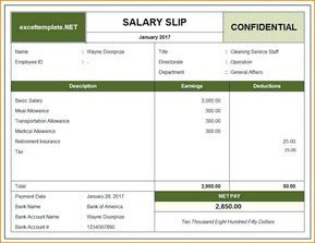 15 Payslip Template Uk Excel Paystub Confirmation
