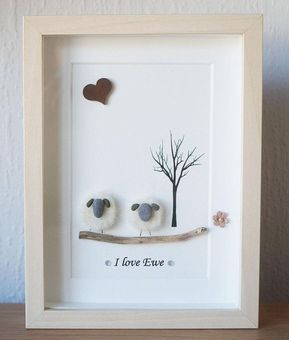 Framed Pebble Art Designs