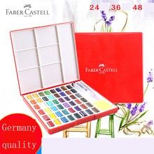 Faber Castell 24 36 48color Solid Watercolor Paint Box With