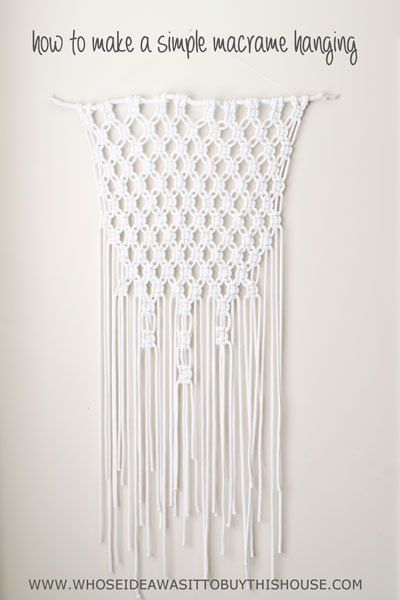 How To Make A Macrame Wall Hanging want to try to make a macrame wall hanging? this is the simplest