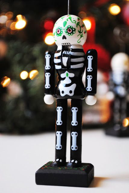 Peachy Cheek: Sugar Skull Nutcrackers and Ornaments