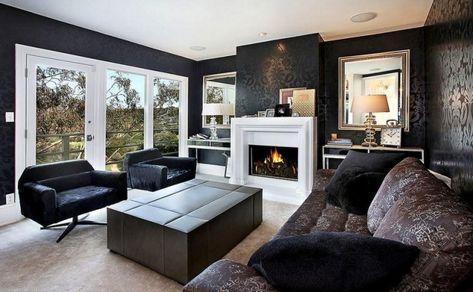Décoration salon moderne en noir pour un intérieur chic et glamour ...