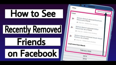 How To Check Recently Removed Friends On Facebook 2020 In 2020 How To Remove Messages Texts