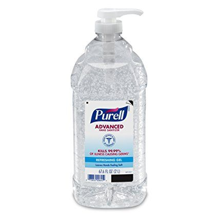 Purell Advanced Hand Sanitizer Refreshing Gel Metallic Design