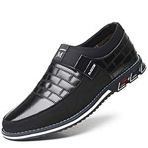 Men/'s Fashion Comfort Casual Leather Driving Shoes Breathable Anti-slip Loafers