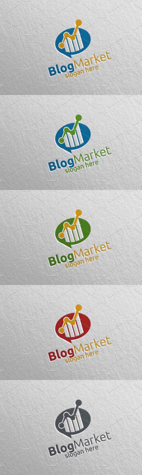 Blog Marketing Financial Logo 15