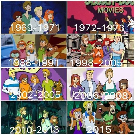 Scooby Doo Through the Years