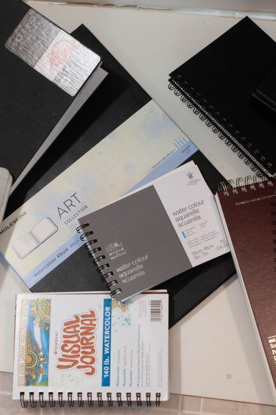 Large Square Watercolor Sketchbook Lay Flat Art Journal With