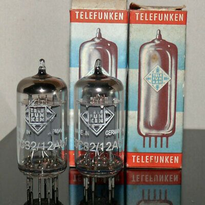 2 Nos Tubes Ecc82 12au7 Telefunken Diamond Smooth Matched Pair 205058 In 2020 Bottle Opener Wall Diamond Pairs