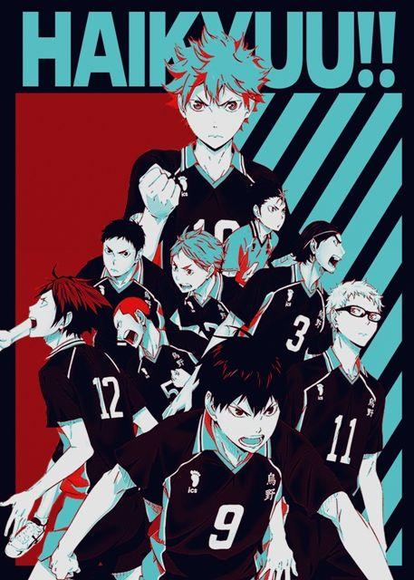 Haikyu Poster Print By Fujiwara Displate In 2020 Poster Prints Haikyuu Wallpaper Manga Covers
