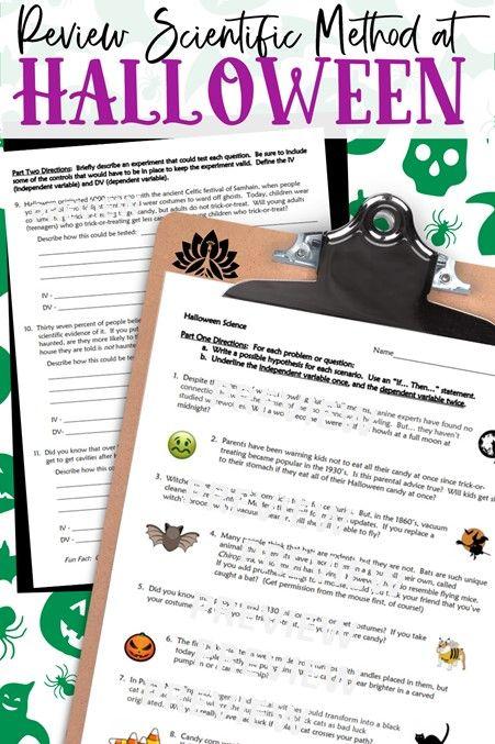 Halloween 2020 Parent Review Review Scientific Method at Halloween in 2020   Scientific method