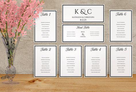 Wedding Seating Chart Template Wedding Seating Chart And Template - Wedding invitation templates: seating chart template wedding