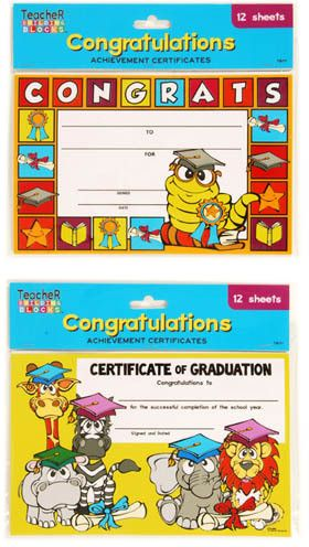 Count Graduation Certificates Of Congratulations  Styles Per