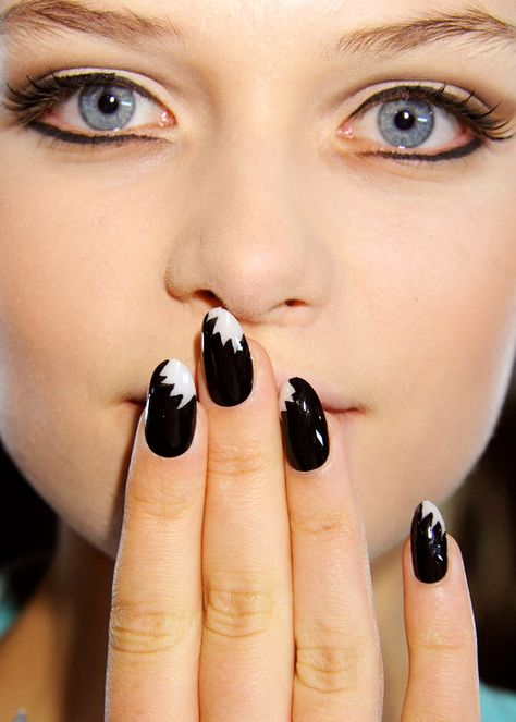Spring/summer 2013 fashion week nail trends: Shark bite mani at The Blonds