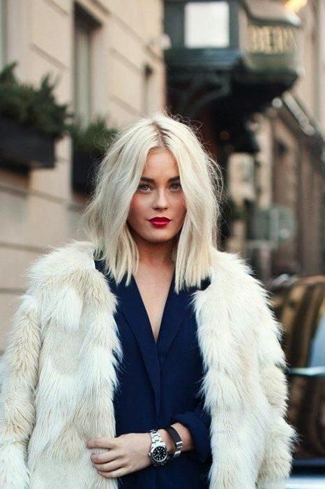Platinum Blonde Hair Color | This one-shade wonder is timelessly feminine and gets an edgy update with a modern cut. #blonde #hair #color #ideas #trends #southernliving