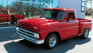 65 Chevy Truck Stepside My Dad S Truck For The Time Being Until I Buy It From Him Chevy Trucks American Pickup Trucks Trucks