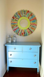 Chary Sprouts: A quirky colorful sunburst mirror