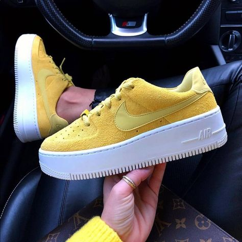 Nike Shoes | Air Force 1 Sage Low | Color: GreenYellow
