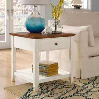 Harriotte Solid Wood End Table With Storage In 2021 End Tables With Storage End Tables Wood End Tables Wood end table with storage