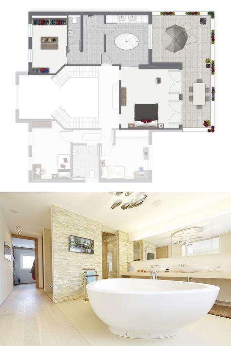 Wellness Komfort Im Elternbereich Vom Modell Cannstatt Luxushaus Luxusbadezimmer Haus