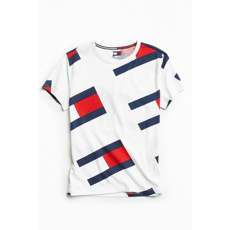 Tommy Jeans For UO '90s Colorblock Tee ($50) ❤ liked on
