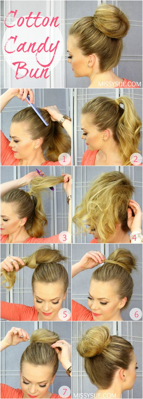 How to: Cotton Candy Bun