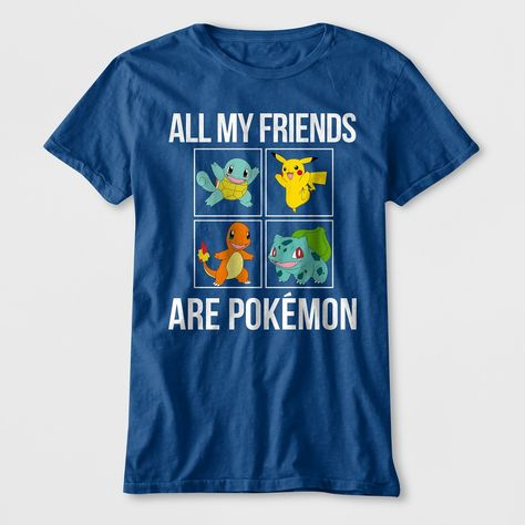 93b78a8f Boys' All My Friends Are Pokemon Short Sleeve Graphic T-Shirt - Blue ...