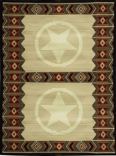 Large Western Style Area Rug Made Of 100 Olefin Materials Measures 5 X 6 5 Rugs Area Rugs Western Rugs