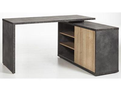 Bureau D Angle Reversible Core Chene Gris Bureau Angle Bureau Reglable En Hauteur Mobilier De Salon