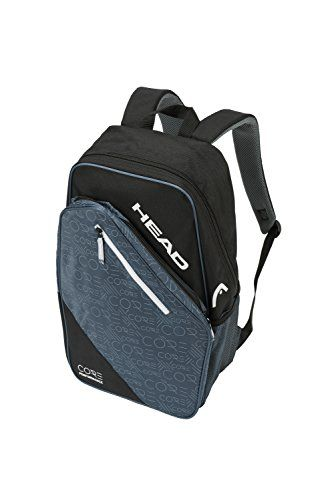 Head Core Tennis Backpack 2 Racquet Carrying Bag W Padded Shoulder Straps Tennis Bag Tennis Backpack Black Backpack