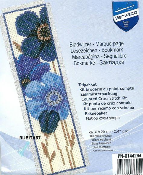 Kit marque-page An/émones bleues