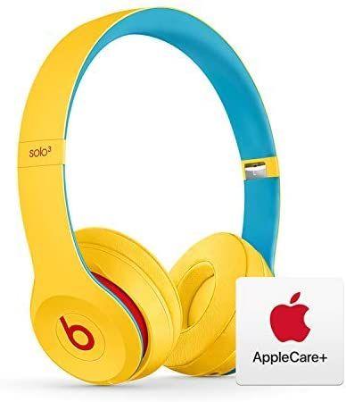 Amazon Com Beats Solo Wireless On Ear Headphones Apple W1 Chip Club Yellow With Applecare Bundle Headphones Beats Headphones Wireless Sony Headphones
