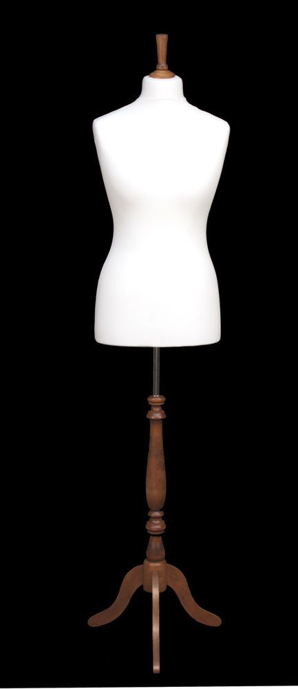 DELUXE Size 10 Female Dressmakers Dummy Mannequin Tailor WHITE Bust WHITE Stand