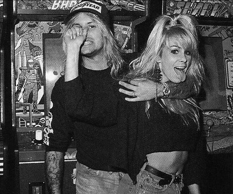 Vince and Sharise! <3 - - - - (Tags) #motley #crue #rocknroll #motleycrue #80s #hardrock #heavymetall #thedirt #livewire #la #whiskyagogo…