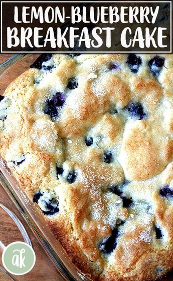 Buttermilk Blueberry Breakfast Cake — this simple cake is a family favorite. I look forward to making it every spring/summer when the blueberries begin arriving at the market, but it works well with frozen berries, too. Easy Brunch Recipes, Easy Bread Recipes, Kraft Recipes, Baking Recipes, Cake Recipes, Dessert Recipes, Quick Dessert, Whole30 Recipes, Party Recipes