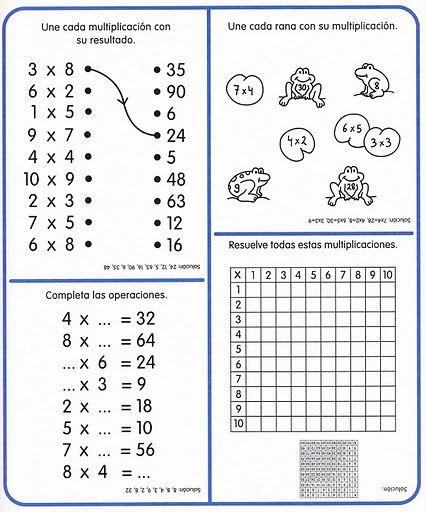 Mi Escuela Divertida Cuaderno De Actividades Matemáticas Las Tablas De Mu Tablas De Multiplicar Tabla De Multiplicar Para Imprimir Actividades De Matematicas