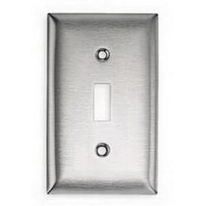 Hubbell Wiring Ss1 302 304 Stainless Steel Screw Mount Standard Size 1 Gang Switch Wallplate 1 Toggle Sw Stainless Steel Screws Toggle Switch Stainless Steel