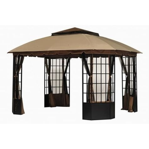Sunjoy Replacement Canopy Set For L Gz120pst 9 Bay Window Gazebo