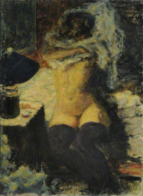 Nu aux bas noires by Pierre Bonnard. Nude with black stockings, 1900 - by Pierre Bonnard – French Pierre Bonnard, Paul Gauguin, Edouard Vuillard, Black Stockings, Art Uk, Figure Painting, Painting Art, Life Drawing, Fine Art
