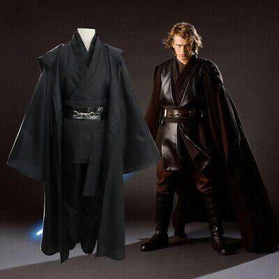 Star Wars Jedi Sith Anakin Skywalker Cosplay Costume Black Suit Set Halloween