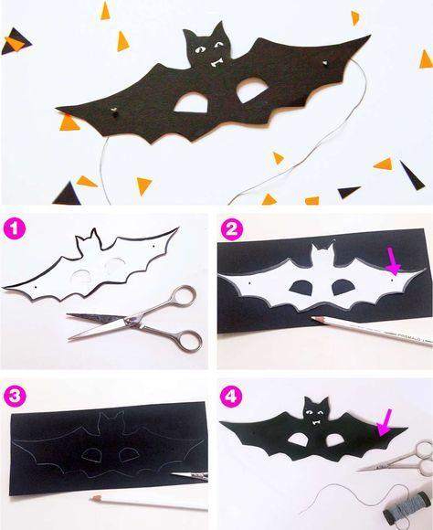 Diy Halloweenkostum Fledermaus Halloween Masken Basteln Halloween Kostum Kind Fledermaus Und Halloween Kostume Kinder