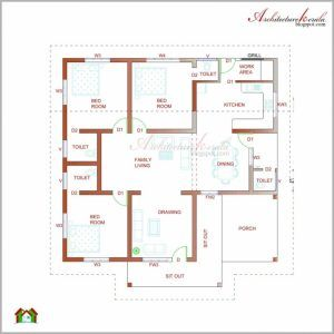 Good Plan For Bedroom House In Nigeria Pictures With 3 Bedrooms Gallery 3 Bedroom Flat Plan View Kerala House Design House Plans With Photos House Floor Plans