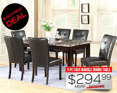 BLACK FRIDAY DEAL   294 5 PC FAUX MARBLE DINING TABLE SET EXPIRES 11 2413 best images about Black Friday Deals on Pinterest   Complete  . Dining Room Sets Black Friday Deals. Home Design Ideas