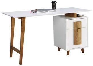 Eckschreibtisch Weiss Eichefarben Schreibtisch Modern Ecksch