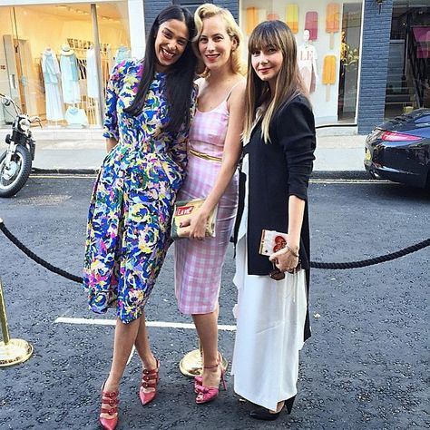 Designer Saloni Lodha x Perfect summer evening wearing the Martine dress from #prefall15 celebrating @charlotte_olympia 's new store opening #regram @naseebs