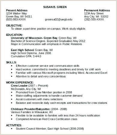 Resume Format For Summer Job Pdf First Job Resume Job Resume