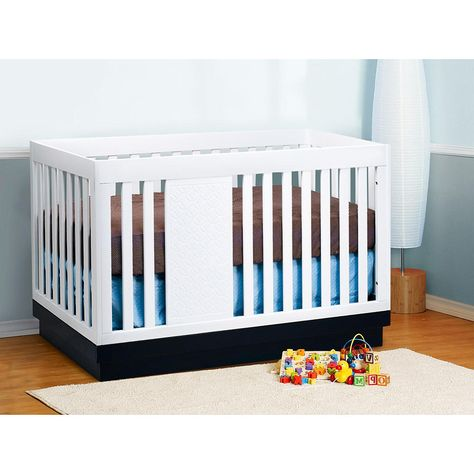 Babyletto Harlow 3 In 1 Crib With Toddler Rail White Navy Nursery Cribs Convertible Crib White Baby Cribs Convertible